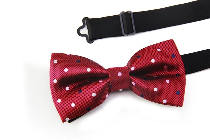 2016 NEW Solid with Dot Bow Tie Wedding Geometric Noeud Papillon Men & Women Polyester Silk Cravat Bowties Female Neckwear