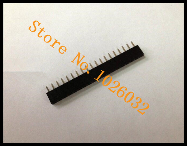 100PCs/A Lot 2.54mm Pitch1*19 19Pin Female Header,Plastic Height 5.7mm,Singlel Row,Dip Type Pin Header Connector<br><br>Aliexpress