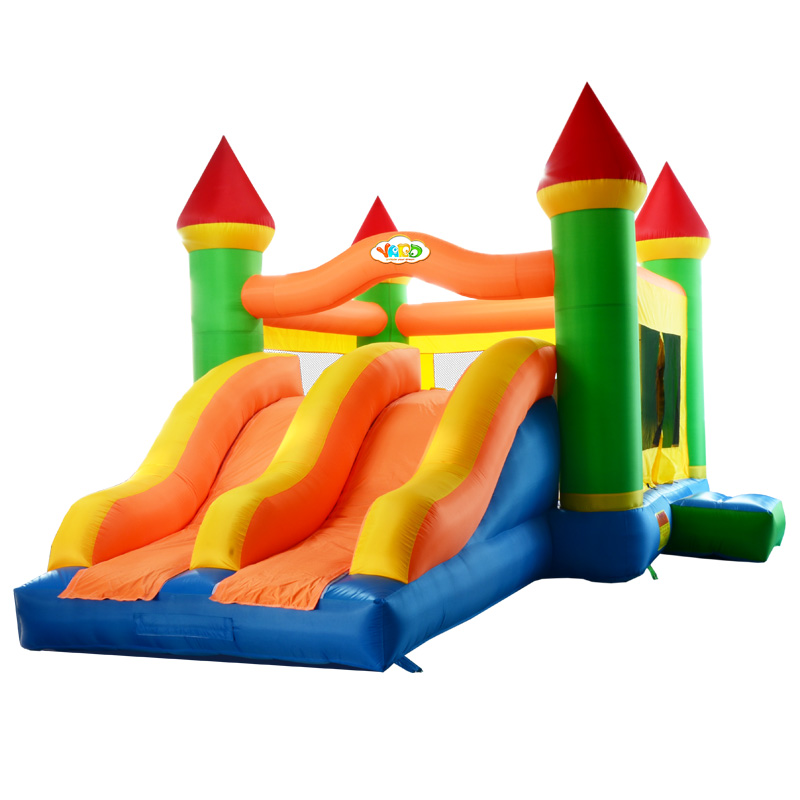 YARD DHL Free Shipping Inflatable Bouncer Bouncy Castle with Dual Slides with Powerful Blower for Home Use for Kids Party(China (Mainland))