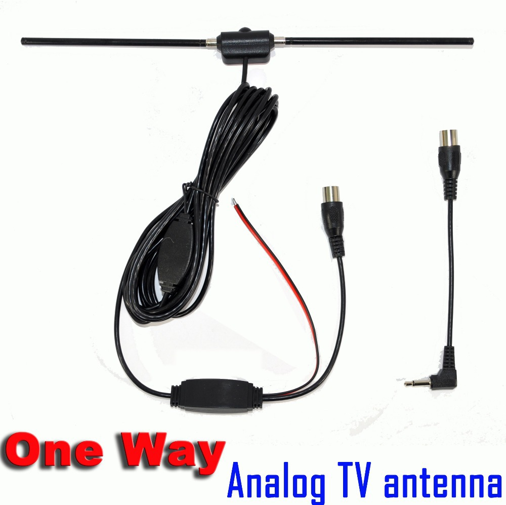 Apollo Super Hotsales One Way Car Analog TV Antenna Aerial with 3M Sticker Good Quality Free Shipping(China (Mainland))