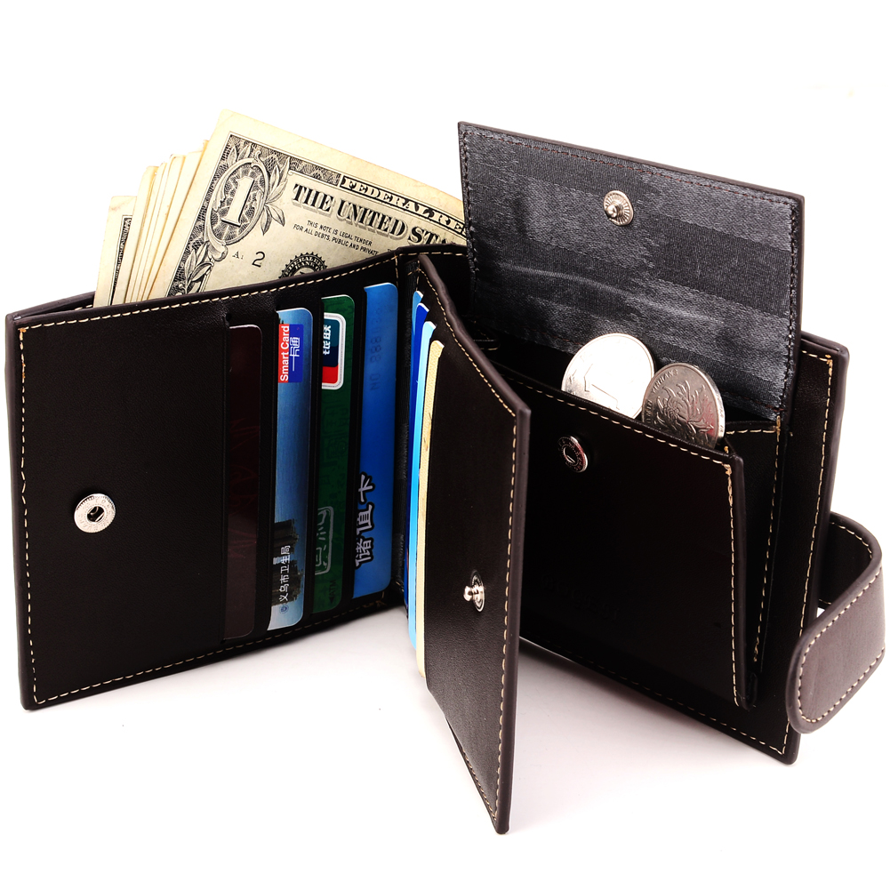 2016 new hot sale fashion Han edition men's brief paragraph wallet PU wallet zero wallet man purse(China (Mainland))