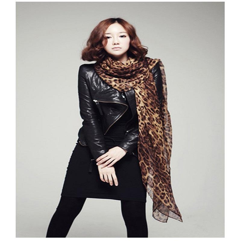 2016 The New Ladies Long Large Scarves Georgette Gauz Wrap Scarf Shawl Sexy Leopard Fashion Shawl(China (Mainland))
