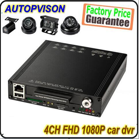 1080P Full HD HDD  wifi build-in G-sensor anti vibration 4channel 12V car video recorder
