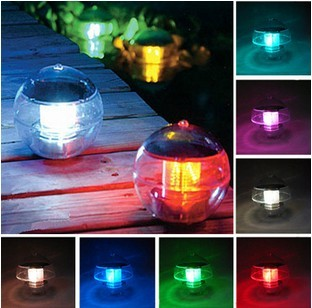 Water pool Solar power floating led pool lights Tree hang led lamp for yard decorations white/yellow/red/blue/RGB Russia Brail(China (Mainland))