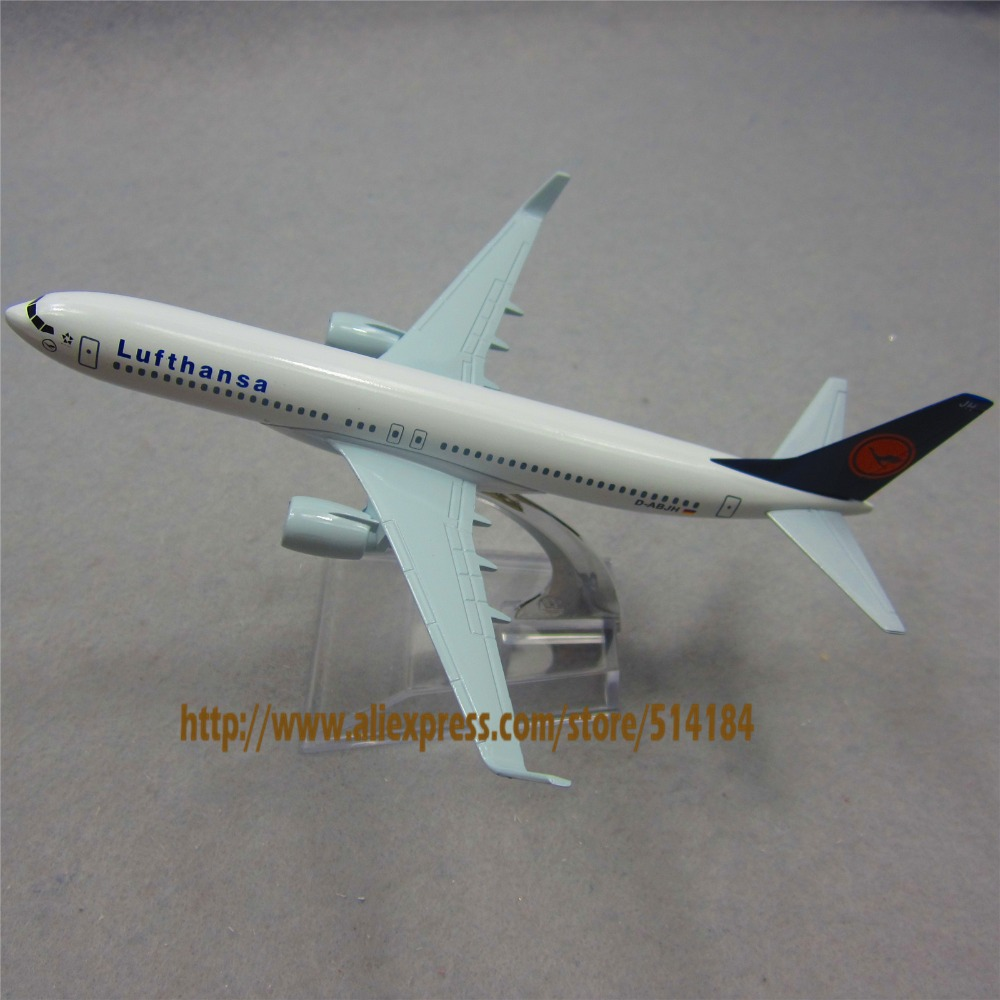 16cm Alloy Metal German Air Lufthansa Airlines Boeing 737 B737 800 Airways Plane Model Aircraft Airplane Model w Stand Toy Gift(China (Mainland))