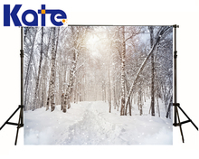 6.5X10Ft Photo Studio Backdrop Camera Fotografica Sunshine Through Forest Trees Snowflake For Wedding Thick Cloth