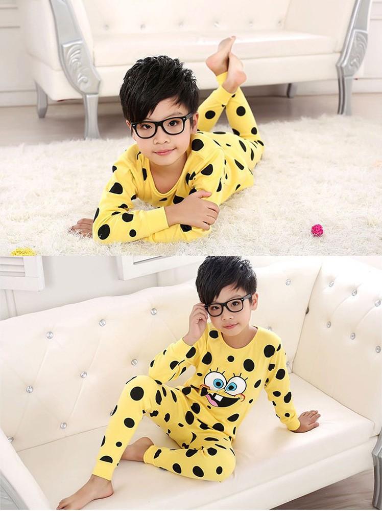 2015 fashion Boys Sleepwear Girls Pyjama Baby Clothes Children Clothing Set Kids Pijamas Sets Girls Snow Queen Pajamas set