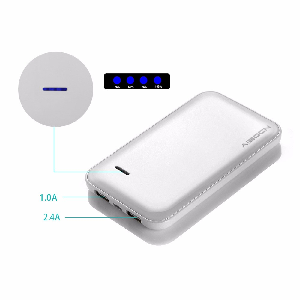 5000mAh Power Bank Portable Charger Dual USB External Battery Charger For Samsung For HTC for Android Phone