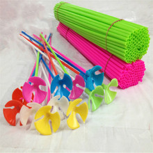 Buy 100 pieces Plastic latex balloon holder sticks 40cm*3.2cm toys Children Party Decoration & Birthday Wedding Decoration for $8.89 in AliExpress store