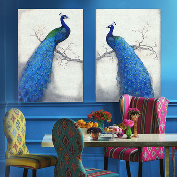 Canvas Prints Home Decor Modern Animal Wall Art Painting Peacock Unframed