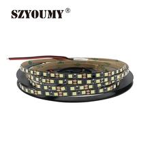 Buy SZYOUMY 20M/Lot 2835 LED Strip 120 Leds / M DC12V Flexible Led Light White/ Warm White Led Strip 2835 5mm Black PCB for $24.46 in AliExpress store