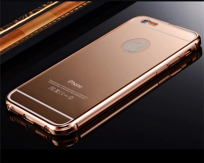 rose gold case cover for iphone aluminum frame cases for. Black Bedroom Furniture Sets. Home Design Ideas