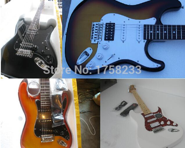 2019 New Arrival Custom Guitar F SSS Stratocaster 6 Strings natural Wood Electric Guitar(China (Mainland))