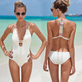 2016 Women Sexy Strappy Swimsuit Swimwear Bathing Monokini Push Up Padded Bikini