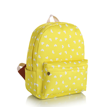 3 Colors Classic Sweet Heart Printing Shoulder Bag  Large Waterproof Girls Teenagers Backpack  Fashion Leisure Quality Schoolbag(China (Mainland))