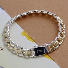 Sterling Silver gold  10MM Men Chain Bracelet,Men's Color separation side buckle bracelet(China (Mainland))