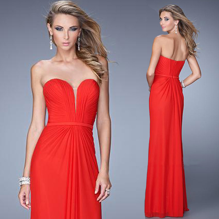 2015 Chiffon Bridesmaid Dresses Coral Color A-line Skirt Sashes Pleat Waist Off Shoulder Sweetheart Neckline Vestidos Largos(China (Mainland))
