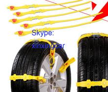 Free Shipping 10pcs x Universal Adjustable Auto Car SUV Snowblower Tire Snow Chains For Mug Ice Road(China (Mainland))