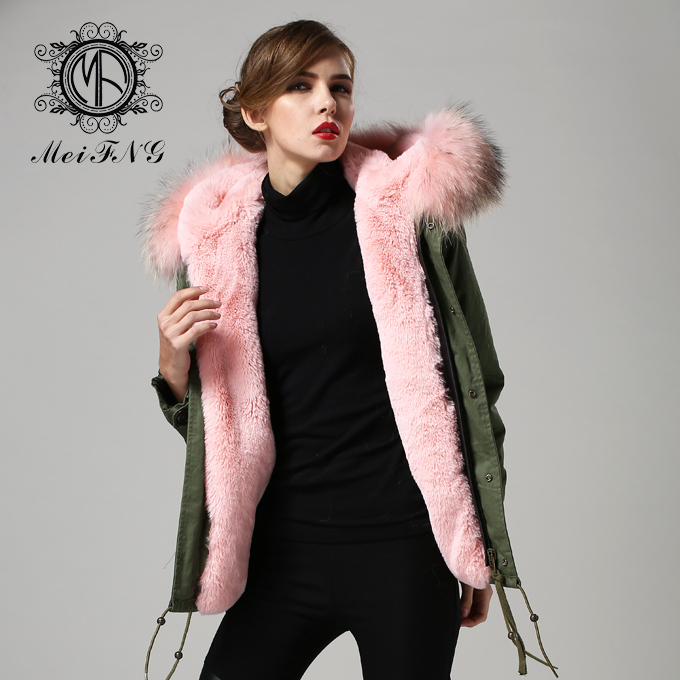 Faux Fur Parka Women