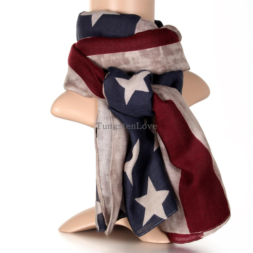 2015 New American Flag Scarf Vintage USA Flags Desigual Infinity Scarves Pashmina Shawls Long Scarf Cotton for Men Women(China (Mainland))