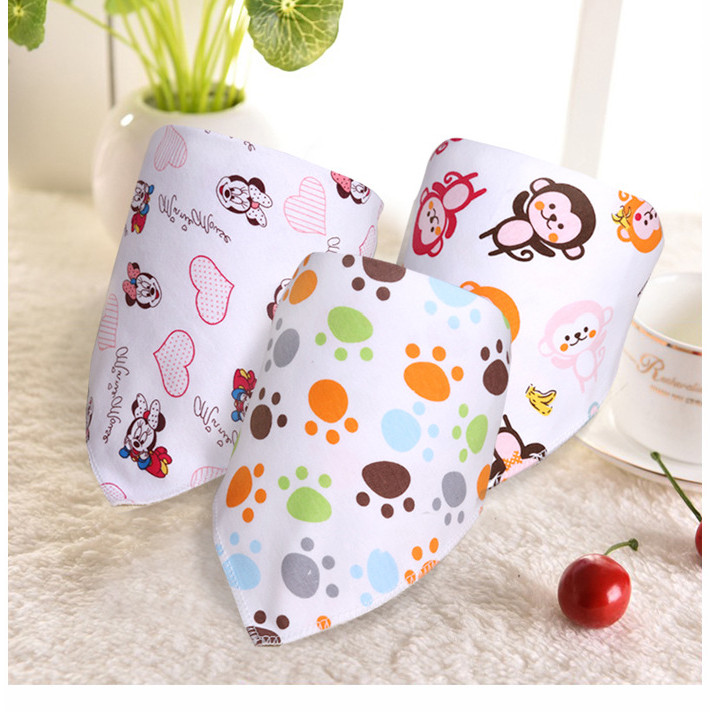50pcs/lot 2016 New Cotton Baby Girl Kids Bandana Bibs mix colors Triangle Head Scarf Saliva Towel Hair bands Gifts(China (Mainland))