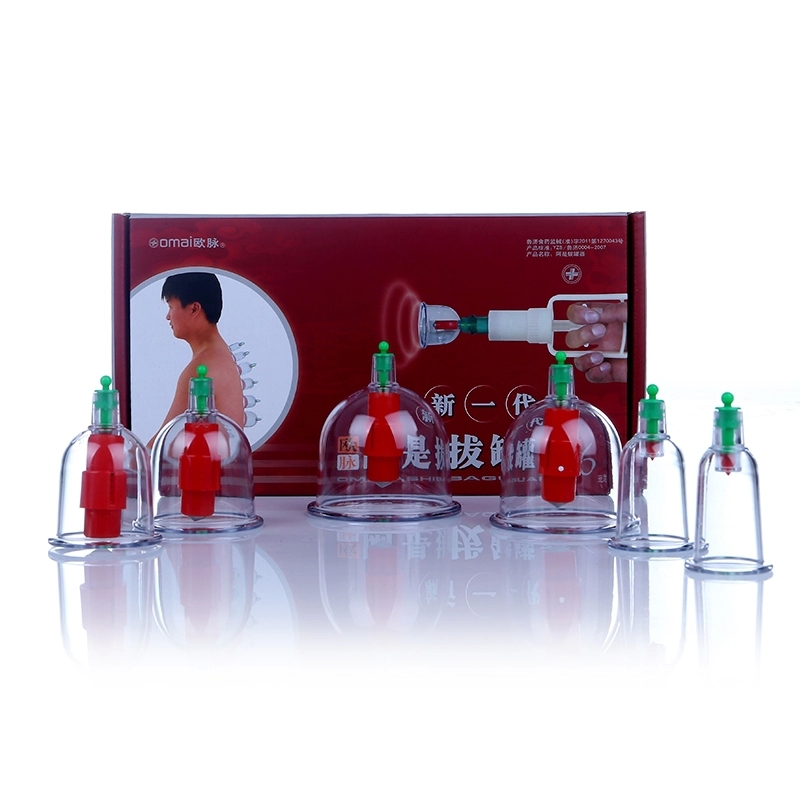 6pcs = 1 sets Traditional Chinese Vacuum cupping device vacuum pull cylinders tank health massage therapy(China (Mainland))
