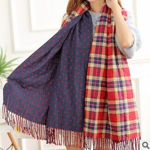 Осень и зима толщиной двусторонняя кашемир плед богемный бахромой шарфы платок точки женский фабрики сразу
