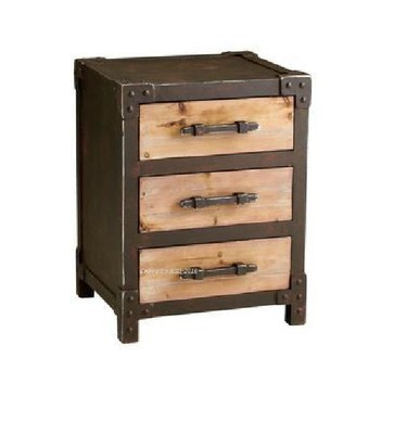 New wrought iron antique wood storage cabinets Drawers residential entrance cabinet corner cupboard bedroom nightstand drawers(China (Mainland))