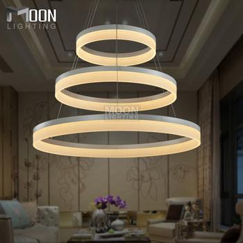 led lampes suspendues moderne ronde lampe pour salon pendelleuchte lustres 3 anneaux restaurant. Black Bedroom Furniture Sets. Home Design Ideas