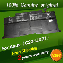 Free shipping C22-UX31 C23-UX31 Original laptop Battery For Asus Ultrabook ZENBOOK UX31 UX31A UX31E 7.4V 6840MAH 50WH