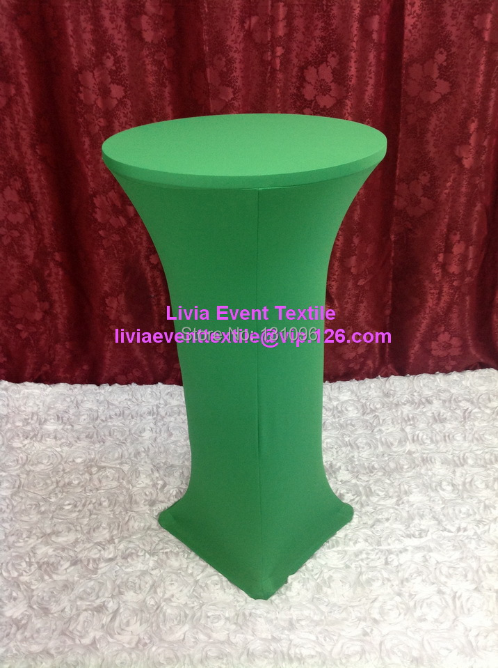 10pcs Extra Larger #30 Green Lycra Cocktail Table Cover ,Lycra Dry Bar Cover Wedding Events &Party Decoration(China (Mainland))