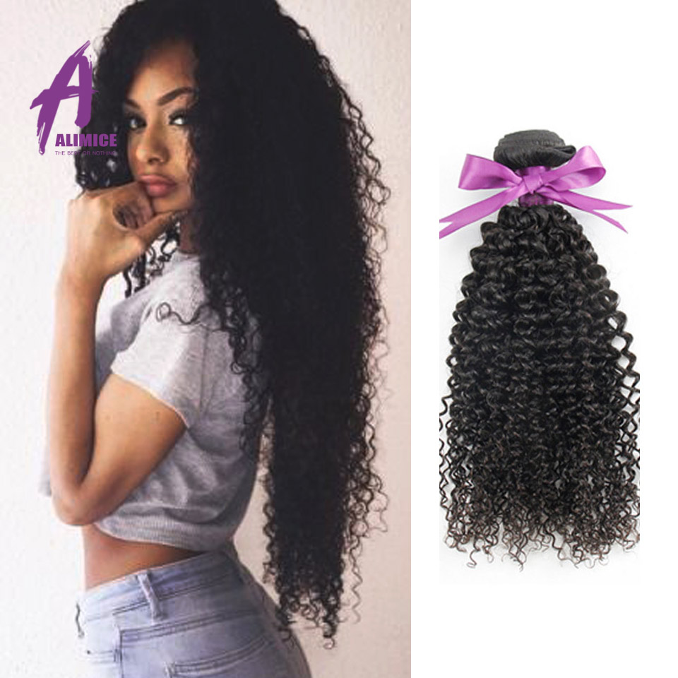 Curly Virgin Hair 4Bundles Human Hair Weave Kinky Curly Crochet Hair ...