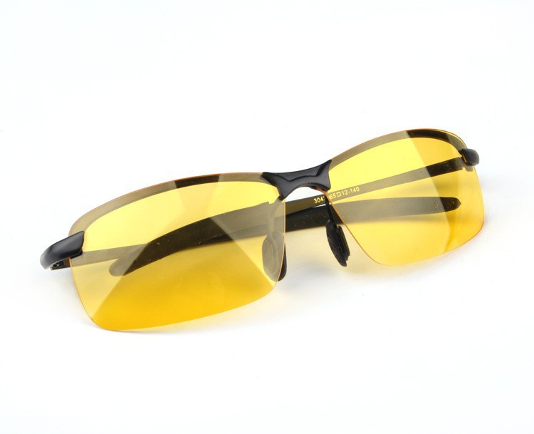 Best Eyeglass Frames For Big Heads : Brand Name Design New Yellow Polarized Lens Night Vision ...