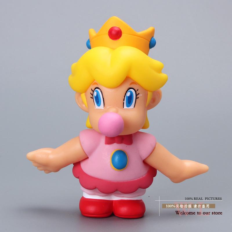 10pcs/lot Free Shipping Super Mario Bros Figures BB Baby Princess Peach PVC Action Figure Model Toy Doll 4 10CM SMFG205<br><br>Aliexpress