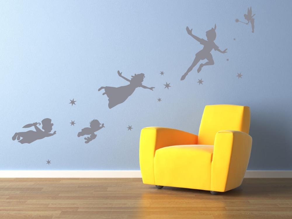 Online get cheap peter pan wall decals for Cheap wall mural decals