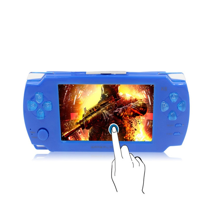 Portable Touch Handheld Game Console 8gb 4.3 inch mp4 player Video Game Console Free 1000 Games Ebook Camera Gaming Consoles(China (Mainland))