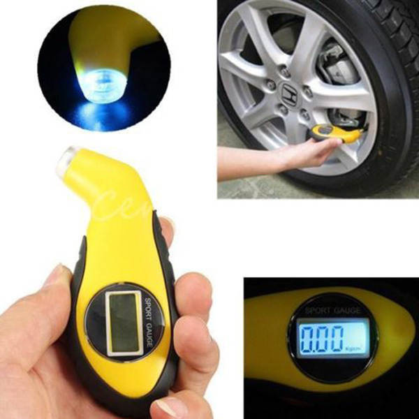 LCD Digital Tire Tyre Air Pressure Gauge Tester Tool For Auto Car Motorcycle (China (Mainland))