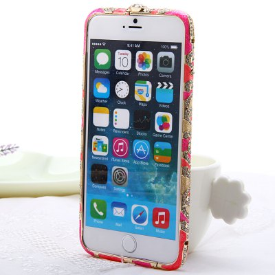 product Pink Fashionable Metal Bumper Frame Case of Diamond Design for iPhone 6 Plus iPhone6 i6 Plus - 5.5 inches