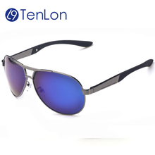 TenLon Brand eyeglasses Men's Classical Sport Polarized Sunglasses oculos de sol male Six Colors in Metal frame coating glasses