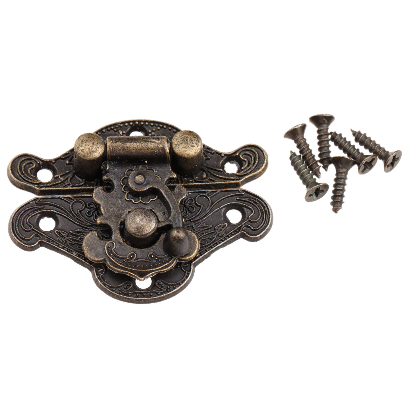 1Pc Antique Bronze Jewelry Wooden Box Hasps Drawer Latches Decorative Brass Suitcases Hasp Latch Buckle Clasp 38x29mm/48x37mm(China (Mainland))