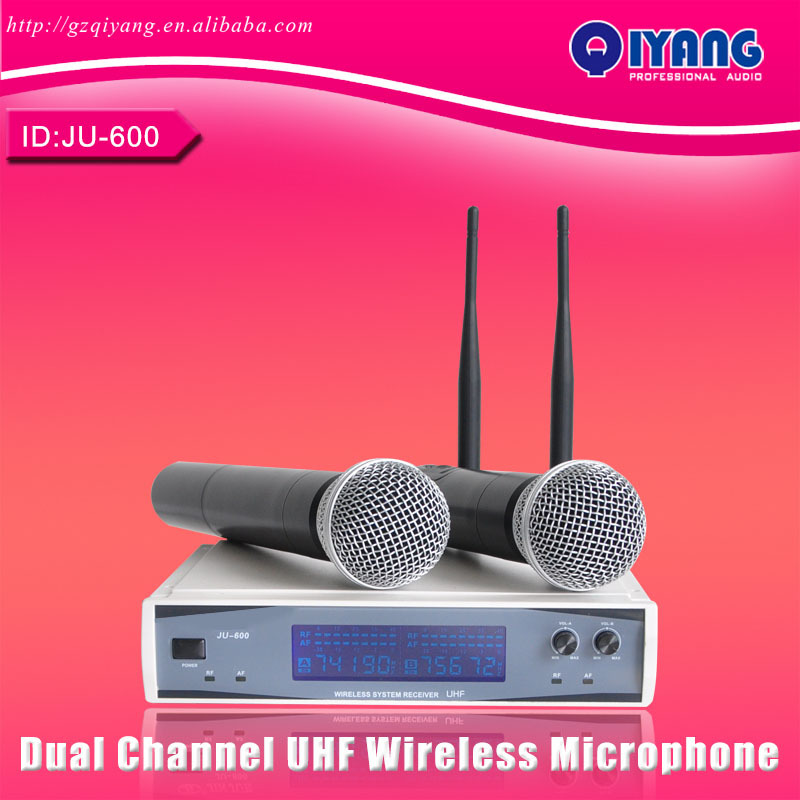 Professional UHF Dynamic Microphones LCD DISPLAY 50M Distance 2 Channel Handheld  Karaoke System KTV Party  Wireless Microphone<br><br>Aliexpress