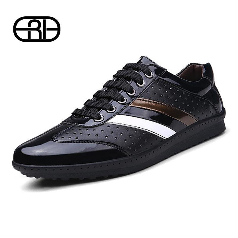 Men Shoes Branded Casual 2015 Spring/Summer Fashion Genuine Leather Sneakers For Men Designer Shoes Casual Breathable Mens Shoes(China (Mainland))