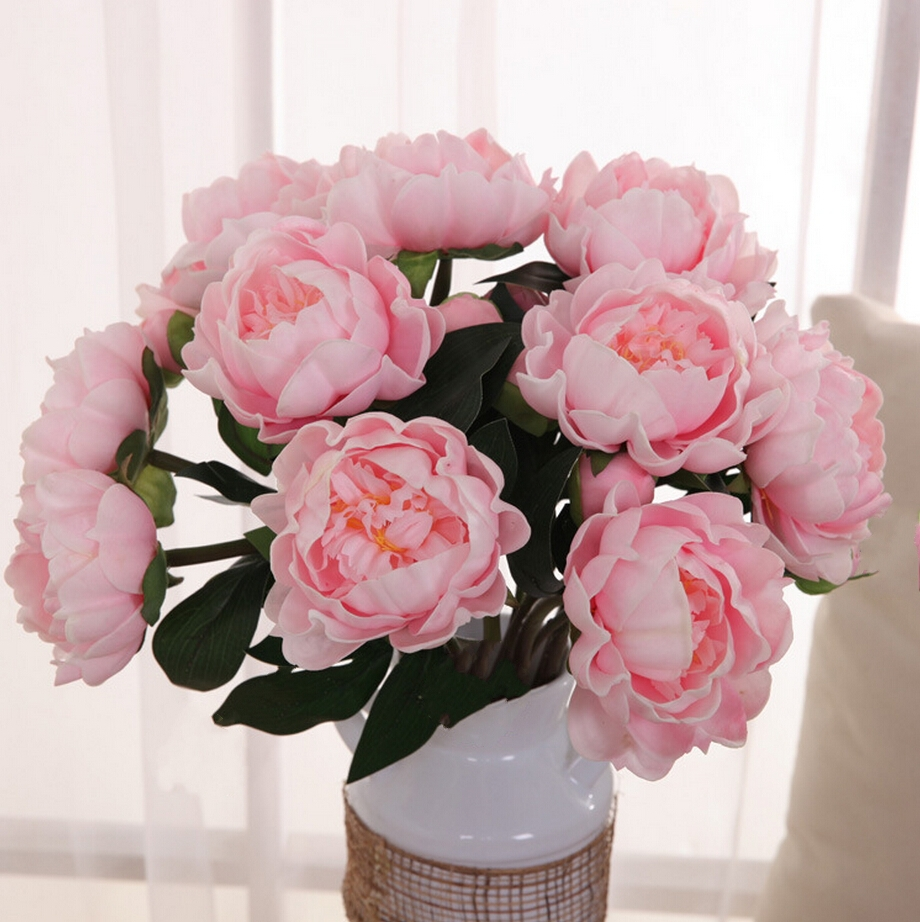 Aliexpress Buy PU Peony Real Touch Flowerswedding Party Home Decoration Artificial