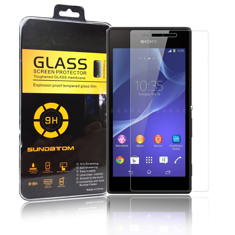Гаджет  0.3mm 2.5D 9H Tempered Glass Screen Protector For Sony Xperia M2 Aqua S50H With Retail Package None Телефоны и Телекоммуникации