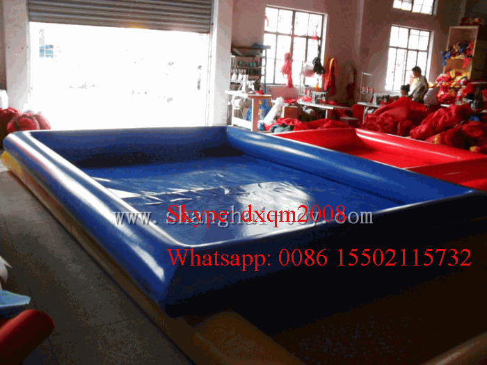 2016 customized swimming pools inflatable pool float china factory with free blower(China (Mainland))