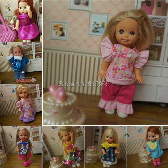 2014 New arrvial wholesales 50pcs/lot fabric and gown for mini kelly simba barbie doll