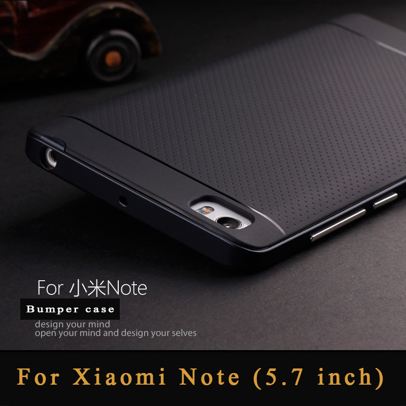 2015 New product slim luxury Xiaomi Mi Note case 5.7 inch soft silicone TPU+PC material phone back cover for Xiaomi Mi Note pro(China (Mainland))