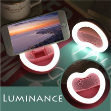 Rechargeable USB Charge with battery LED Selfie Ring Light for Iphone Lighting Night Darkness Selfie for iPhone 5 6s Plus(China (Mainland))