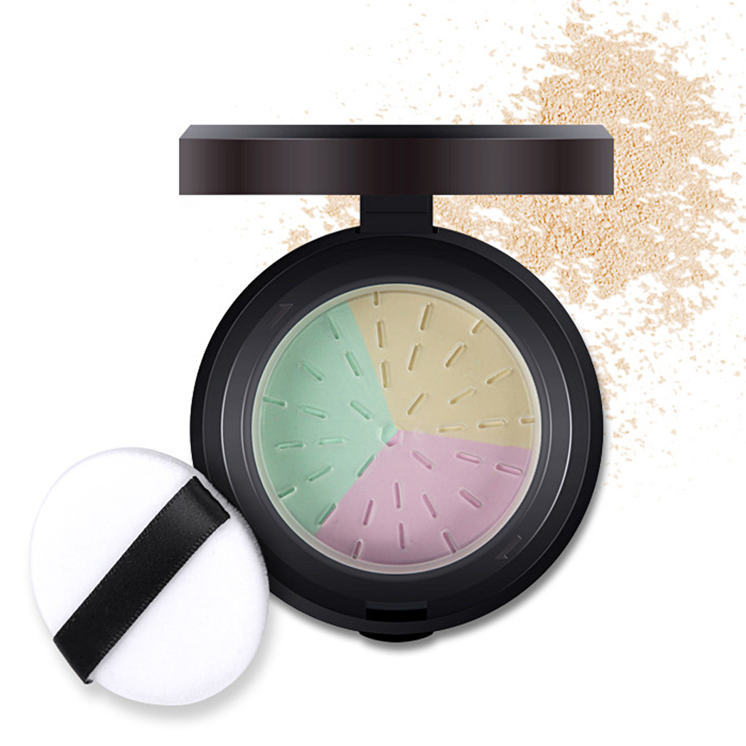 Professional Cosmetic Tool Loose Powder 3colors Mineral Powder With Puff Minerals Matte Makeup tools Make Up For Beauty $k(China (Mainland))