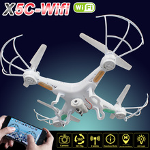 X5C-Wifi RC Drone with FPV Camera 2.0Mp 720P HD Remote Control Quadcopter Professional Drones Toy Helicopter X5C WIFI Version(China (Mainland))
